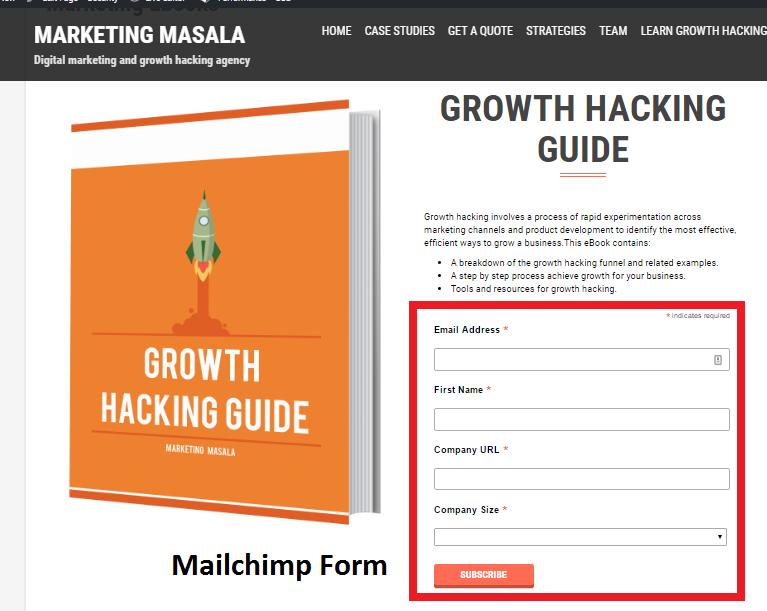 Mailchimp-email-form